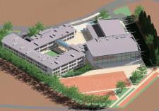Tak ma wyglądać nowa szkoła, która stanie ma przy ul. Kalinowej i Azaliowej w Kokoszkach.