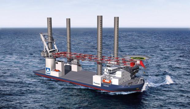 """Statek """"Vidar"""" będzie obsługiwał cały proces instalacji farm wiatrowych od załadunku turbin oraz masztów, po ich instalację w miejscu przeznaczenia."""