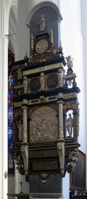 Innym dziełem Wilhelma van Den Blocke, które przetrwało do dziś, jest epitafium Edwarda Blemkego 1591, znajdujące się w kościele Mariackim w Gdańsku.