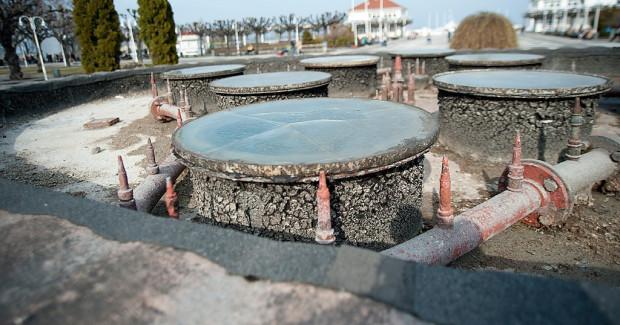 Tak obecnie wygląda fontanna przed sopockim molo...