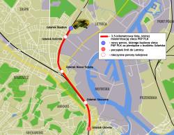 Nowa linia kolejowa dla pasażerów na mapie Gdańska.