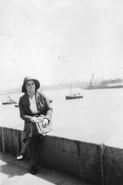 Hrabina Maria Magdalena Łoś. Gdynia, lata 30. ubiegłego wieku. Zdjęcia hrabiny i jej męża, komandora Andrzeja Łosia publikujemy jako pierwsi.