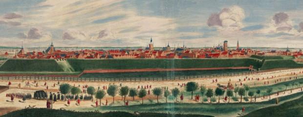 Gdańsk pod koniec XVII wieku na panoramie autorstwa Petera Willera z 1687 r.