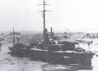 Jednostki Flotylli Pińskiej, którą dowodził komandor Zajączkowski, zanim objął dowództwo Misji Morskiej w USA i Kanadzie.