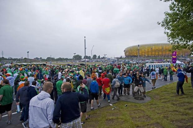 Kibice Hiszpani i Irlandii wspólnie dotarli na mecz