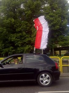 Husaria na ulicach Gdańska.