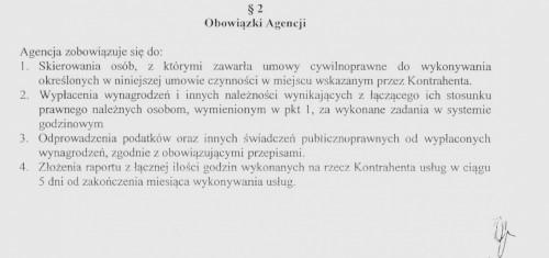 Fragment umowy podpisany między firmami Jobhouse i Askar
