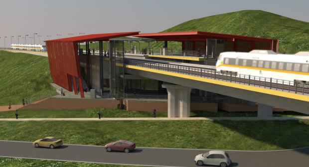 Projekt stacji Kolei Metropolitalnej Gdańsk-Brętowo.