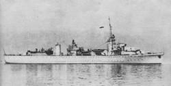ORP Gryf, którym krótko dowodził kapitan marynarki Wiktor Łomidze.