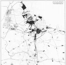 Koncepcja rozwoju Gdańska z lat 40-tych XX wieku. Przewidywano wówczas powstanie obwodnicy, zabudowę Osowej oraz przeniesienie portu lotniczego do Pruszcza Gdańskiego.