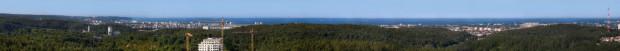 Panorama rozciągająca się z Centralparku. Przy słonecznej pogodzie można obserwować ruch statków na Zatoce.